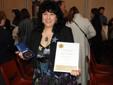 Gina and her CBCA Award