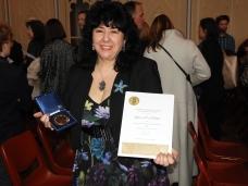 Gina and her CBCA Award